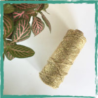 Jute lurex twist