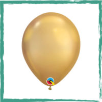 Ballon chrome goud 28 cm
