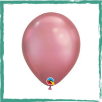 Ballon chrome rose 28 cm